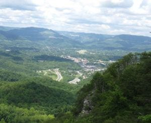 Cumberland Gap National Park Overlook in Anderson County, Tennessee